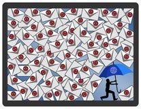 Protección en línea de la tormenta de la mierda Fotos de archivo libres de regalías