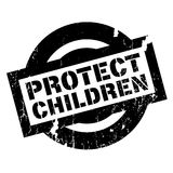Protect Children rubber stamp Royalty Free Stock Photography