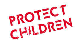 Protect Children rubber stamp Stock Photos