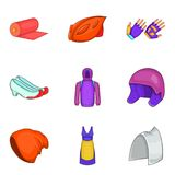 Protect clothes icon set, cartoon style Stock Images