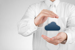Protect cloud computing data Stock Photo