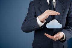 Protect cloud computing data Stock Photo