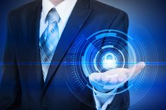 Protect cloud information data concept. Security and safety of cloud data Stock Photography