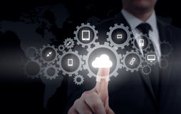 Protect cloud information data concept. Security and safety of cloud data.  Stock Image