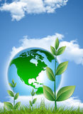 Protect the earth. Ecology concept,save the earth Royalty Free Stock Images