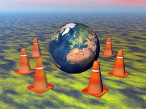 Protect the earth - 3D render Royalty Free Stock Photos
