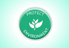 Protect Environment. I have created Protect environment badge in vetor stock illustration