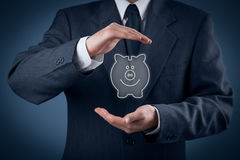 Protect financial savings Stock Image