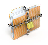 Protect folder. 3d render icon Royalty Free Stock Image