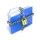 Protect folder. 3d rendered illustration Stock Image