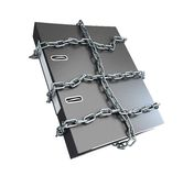 Protect folder. On a white background Royalty Free Stock Photography