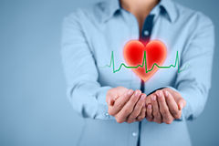 Protect heart healthcare royalty free stock photo