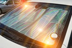 Free Protect Heated By The Sun`s Rays Inside The Car Stock Photos - 162988963