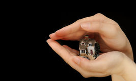 Protect home. Invest and protect house property Stock Images