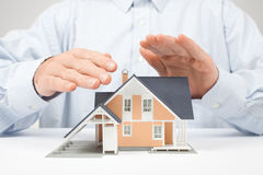 Protect house - insurance concept Royalty Free Stock Image