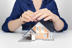 Protect house - insurance concept Stock Images