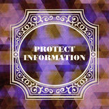 Protect Information Concept. Vintage design. Stock Photos