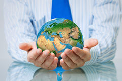 Protect life on Earth planet Stock Photo