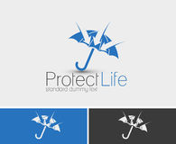 Protect Life. Symbol of Protect Life, isolated vector logo design Stock Images