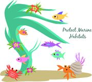 Protect Marine Habitats Stock Image
