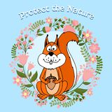 Protect The Nature poster Stock Photography