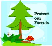 Protect Our Forests Stock Photography