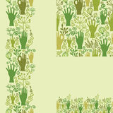 Protect our nature seamless pattern background Stock Images