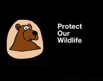Protect Our Wildlife Royalty Free Stock Images