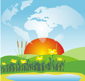Protect the planet. Environmental concept of preserving our world Stock Photography
