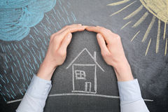 Protect a Property from the Weather Stock Photos