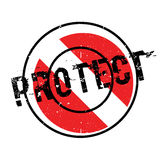 Protect rubber stamp Royalty Free Stock Images