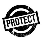 Protect rubber stamp Royalty Free Stock Photography