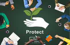 Protect Saving Security Safety Prevention Protection Concept Stock Image