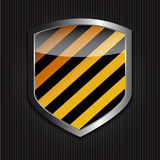 Protect  Shield on Black Background Vector Stock Photos