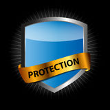 Protect shield vector illustration Royalty Free Stock Photography