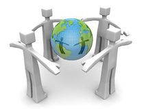 Protect the world environmental concept Stock Images