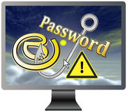 Protect your Email and Password Royalty Free Stock Photo