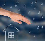 Protect your home from bad weather  Royalty Free Stock Images