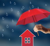 Protect your home from bad weather Stock Photo