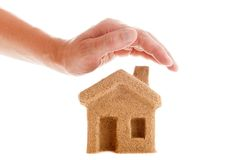 Protect Your House. Icon for web. For insurance companies Royalty Free Stock Image