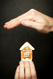 Protect your house insurance and protection Stock Images