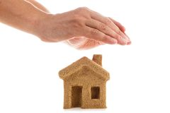 Protect Your House. Symbol - Protect your home. Icon, sticker for insurance and investment companies Stock Image