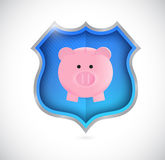 Protect your savings concept shield. illustration Stock Images