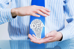 Protect your success ideas Stock Image