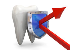 Protect Your Teeth Concept - 3D Stock Image