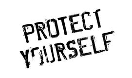 Protect Yourself rubber stamp Royalty Free Stock Photo