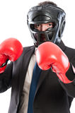 Protected business man Stock Photography