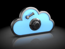 Protected cloud Royalty Free Stock Photos