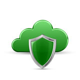 Protected cloud service stock illustration