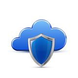 Protected cloud service Royalty Free Stock Photo